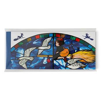 【売切】ジブリ美術館ステンドグラス 一筆箋 「魔女の宅急便」