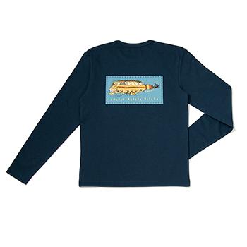 【売切】Tシャツ 長袖 ジブリ美術館20周年 ネイビー