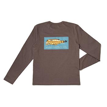 【売切】Tシャツ 長袖 ジブリ美術館20周年 チャコール